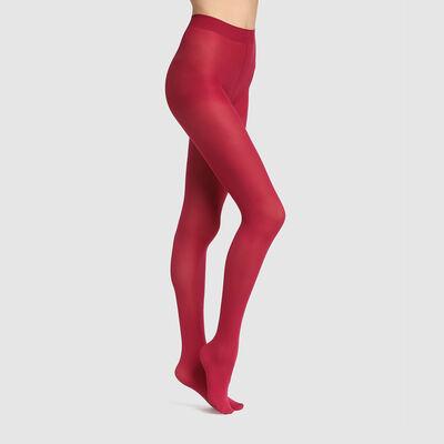 Dim Style 50D opaque velour tights in dark pink, , DIM
