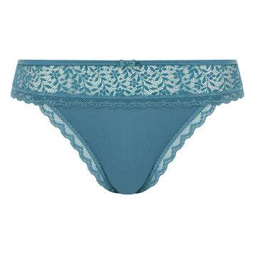 Tanga Brésilien Vert Bleuté pour femme Daily Glam Trendy Sexy, , DIM