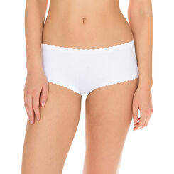 Body Touch women's second skin boyshorts in white, , DIM