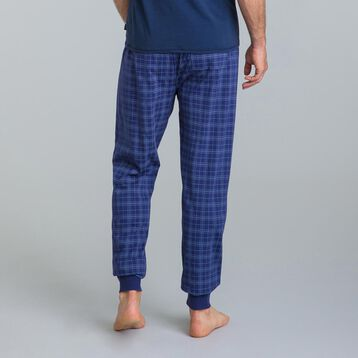 Pantalon de pyjama carreaux bleu Mix & Match-DIM