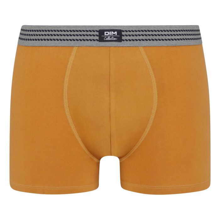Men's stretch cotton trunks Desert Yellow with grey belt Dim Elegant, , DIM