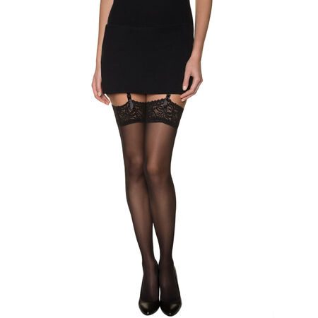 78bd29893d7c5 Black DIM Signature lace top stockings