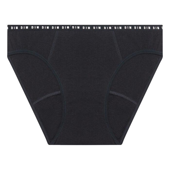 Черные многоразовые менструальные слипы для умеренных выделений Dim Protect, , DIM