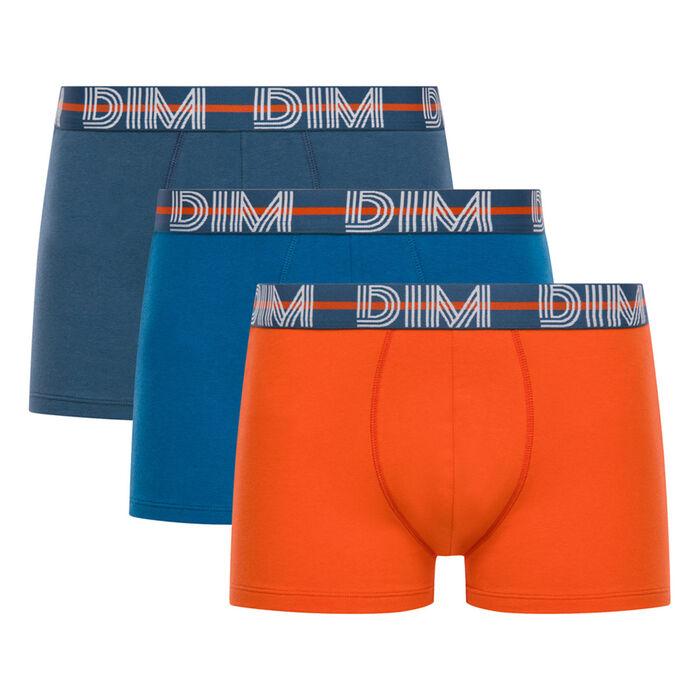 Lot de 3 boxers bleu, orange et gris bleu - Dim Powerful, , DIM