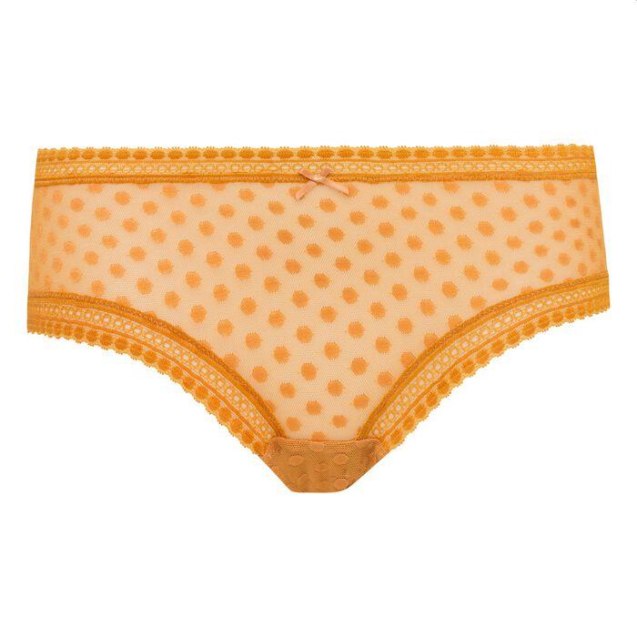 Shorty dentelle motif pois jaune désert Dotty Mesh Bar à Culottes Dim, , DIM