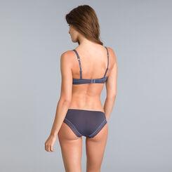 Invisi Fit granite grey push-up demi-cup bra, , DIM