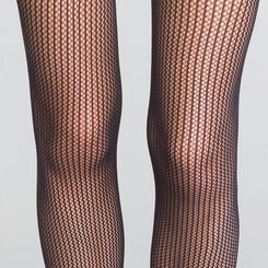 Black Stripes Fishnet 73 tights - Dim Style, , DIM