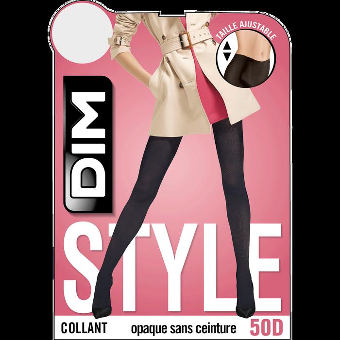 Collant noir opaque velouté sans ceinture Style 50D-DIM