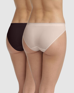 2 pack Ecodim microfiber briefs in Nude Pink and Precious Purple, , DIM