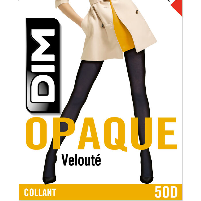 Collant opaque velouté rouge intense  50D Style, , DIM