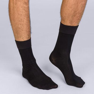 Mi-chaussettes noires Soft Touch Homme, , DIM