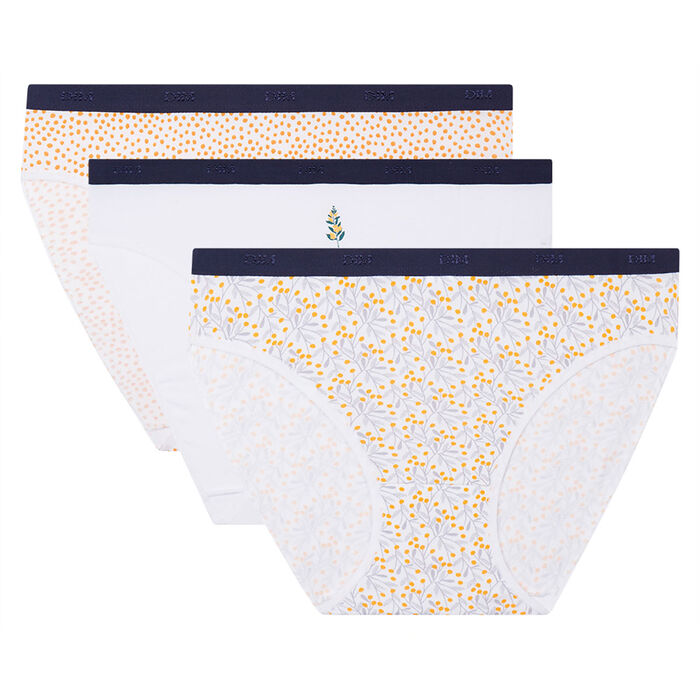 3 pack mimosa print briefs Les Pockets Coton Stretch de Dim, , DIM