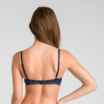 Fancy Cotton padded triangle bra - DIM