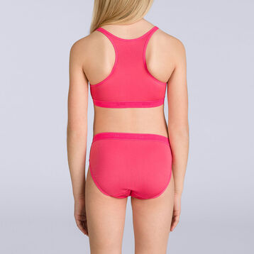 DIM Pocket Micro Girl passion pink sports bra - DIM