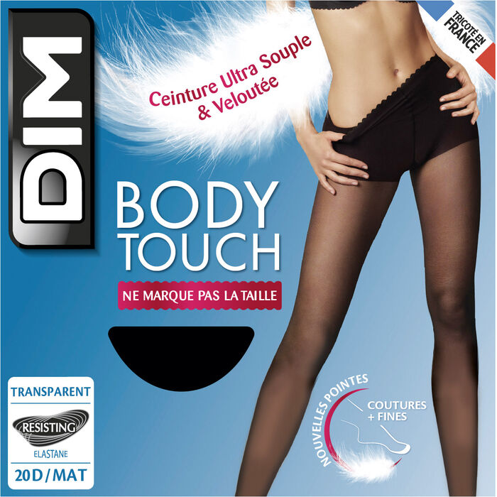 Body Touch Dim 17D Black transparent veil tights, , DIM