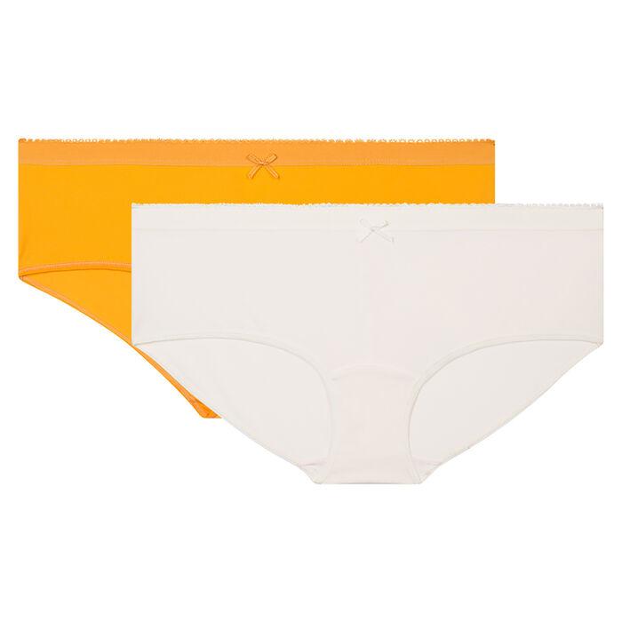 Lot de 2 boxers nacre et jaune or Les Pockets Microfibre de Dim, , DIM