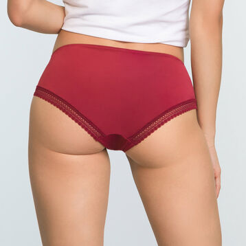 Cherry Red women's microfiber briefs Micro Lace Panty Box, , DIM
