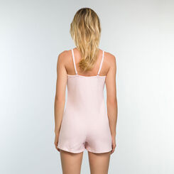 Mottled Pink romper in stretch cotton Casual Line, , DIM