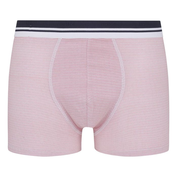 Dim Fancy Men's stretch cotton trunks with herringbone pattern, , DIM