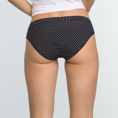2 pack black and polka dot women's briefs  Body Move, , DIM