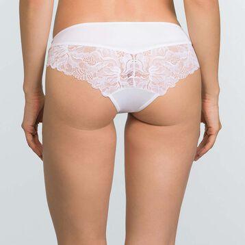 Women's white microfiber and lace briefs Generous Essentiel, , DIM