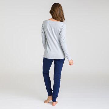 Soft & Cool mottled grey long-sleeve T-shirt - DIM