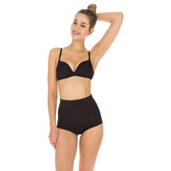 Diam's Control high rise slimming knickers in black, , DIM