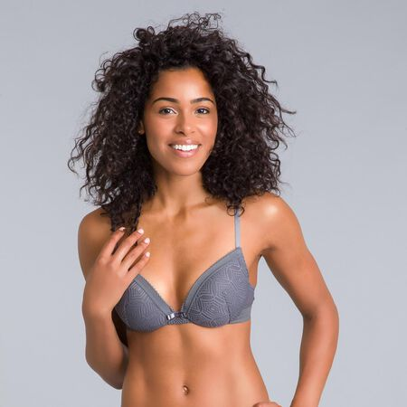 5cea79f92a Daily Glam Persian grey lace push-up bra