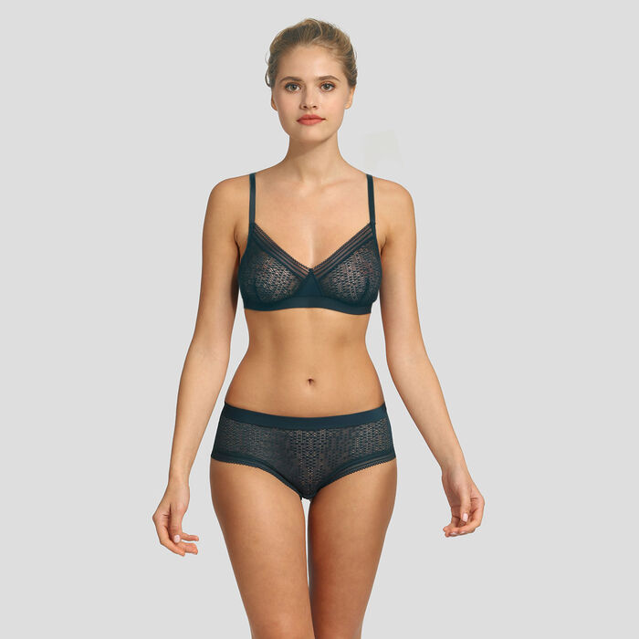 Dim Mod green soft triangle bra, , DIM