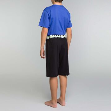 Black and ink blue pyjama set Dim Boy  - Nuit Tokyo, , DIM