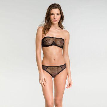 Velvet mesh band bra in black - Dim Chic Line, , DIM