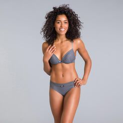 Daily Glam Persian grey lace push-up bra - DIM