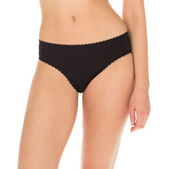 Body Touch Femme women's second skin bikini knickers in black, , DIM