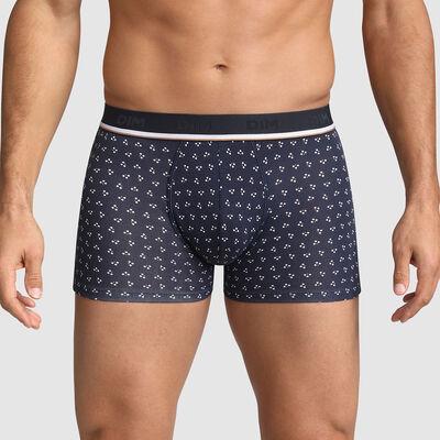 Boxer homme en coton stretch Marine motif mini losanges Dim Fancy, , DIM