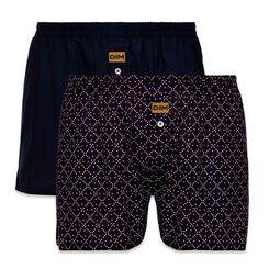 Set of 2 DIM cobalt blue and dark purple boxer shorts - DIM