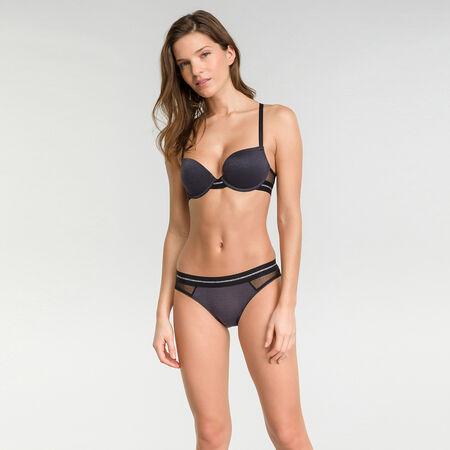 Push up bra in black lace - Dim Trendy Micro