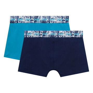 2 pack dark and acqua blue trunks - Box Hawai, , DIM