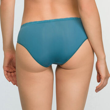 Women's lace and microfiber briefs in Bluish Green Daily Glam Trendy Sexy, , DIM