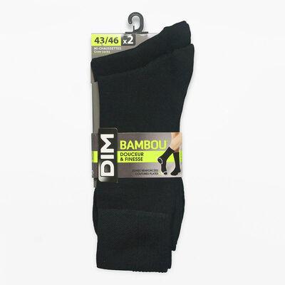 Набор из 2 пар черных мужских носков - Бамбук, , DIM