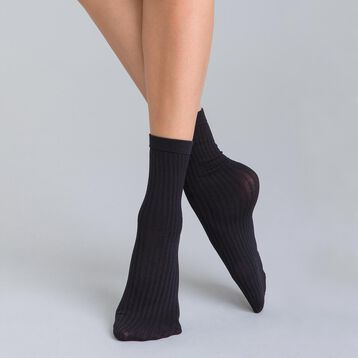 Socquettes en cotte de mailles noires DIM & BASH-DIM