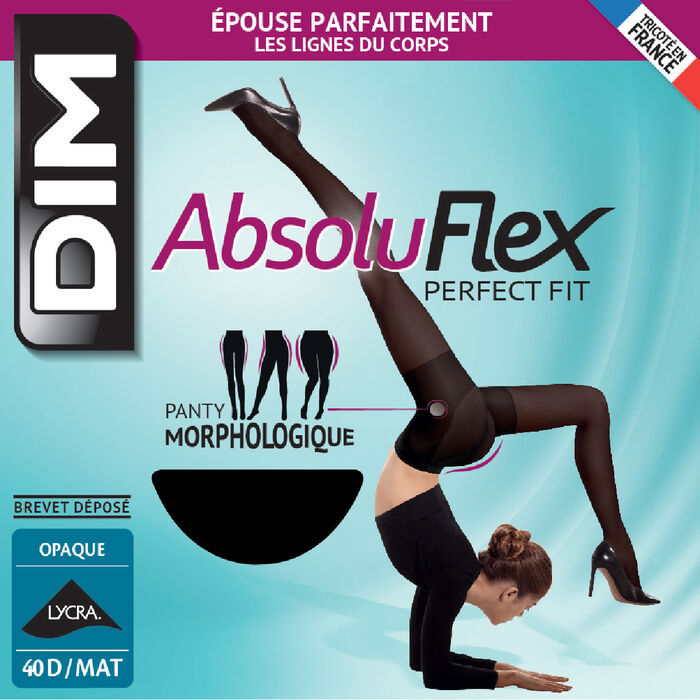 Black AbsoluFlex Opaque 40 tights, , DIM