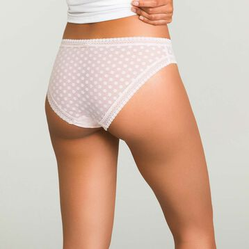Blush Pink brief with polka dots Dotty Mesh, , DIM