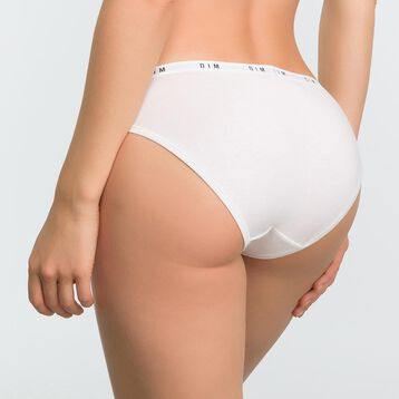 White women's brief in cotton - DIM Originals, , DIM