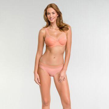 Full-cup peachy pink bra - Dim Generous, , DIM