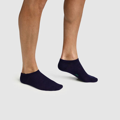 Pack of  2 pairs of men's socks in Lyocell Marine cotton Green by Dim, , DIM