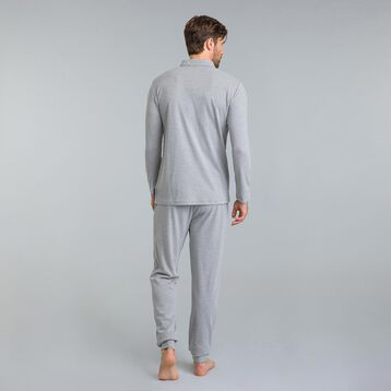 Tee-shirt de pyjama manches longues gris chiné Mix & Match-DIM