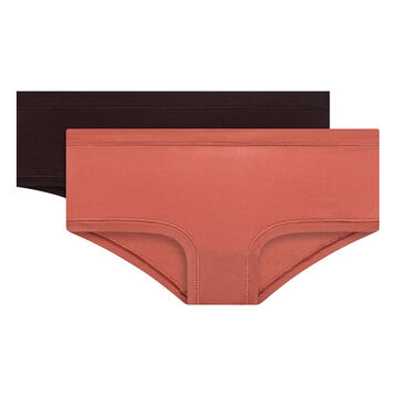Lot de 2 shortys rose cédar et aubergine - Body Mouv, , DIM