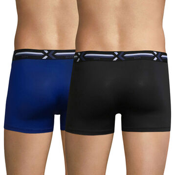 2-pack black and blue trunks - Xtemp Activ, , DIM