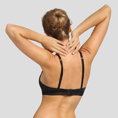 Black soft padded triangle bra Dim Trendy Micro, , DIM