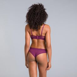 Daily Glam purple garnet lace demi-cup bra - DIM